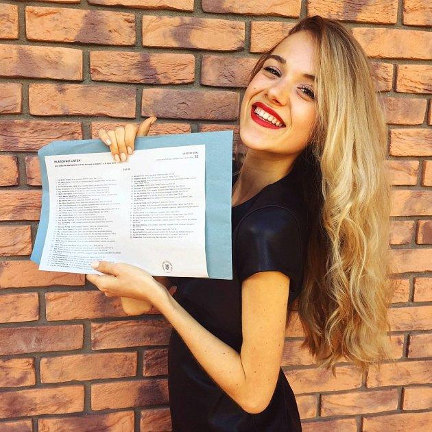Vpátek odpoledne byla ve volební místnosti vBožtěšicích volit také 18letá Markéta Marečková.