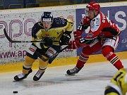 Hokejový zápas Ústí nad Labem a Prostějov.
