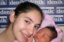 Denisa Peterová porodila v ústecké porodnici dne 9. 4. 2010 (11.30) dceru Denisu (47 cm, 3,01 kg).