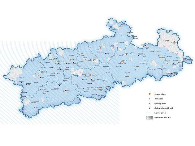 Území působnost SVS v Ústeckém a Libereckém kraji