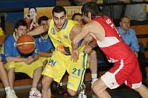 Basketbalisté Ústí nestačili na své palubovce na Jindřichův Hradec.
