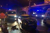 Nehoda v Přístavní ulici v Ústí nad Labem