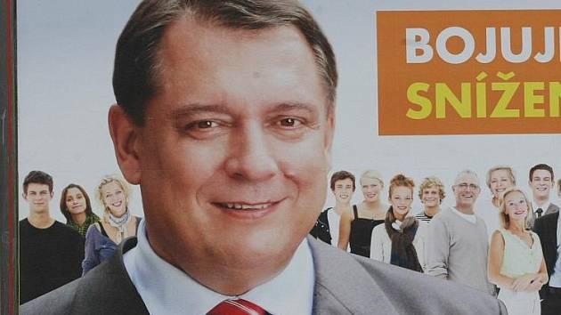 Jiří Paroubek na billboardu - ČSSD