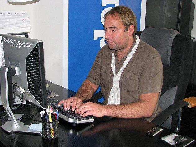 Podnikatel Jan Vrba v redakci Deníku.
