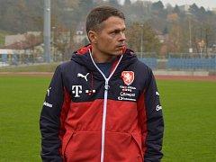 Libor Sionko jako manažer reprezentace U21 v Ústí nad Labem.