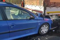 Dopravní nehoda u Chabařovic.
