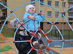 Nové dětské hřiště ve Všebořicích.
