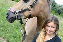 Jezdkyně Sára Buchlová by se ráda dostala na závody do Rakouska.