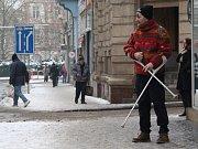 Chodník v Pařížské ulici, pondělí 9. ledna 2017.