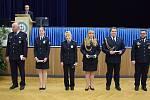Předávání medailí za zásluhy o rozvoj Vyšší policejní a střední policejní školy ministerstva vnitra vPraze