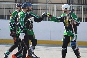 Nižší hokejbalové soutěže - ilustrační foto.