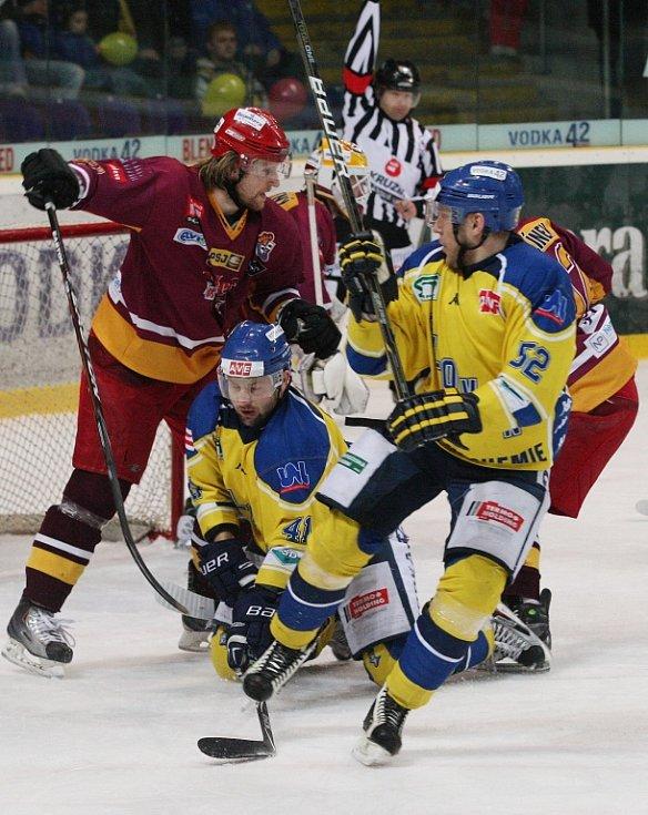 Úterní hokejové utkání Ústí nad Labem - Jihlava.