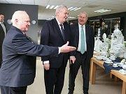 Prezident Miloš Zeman navštívil Český porcelán v Dubí.
