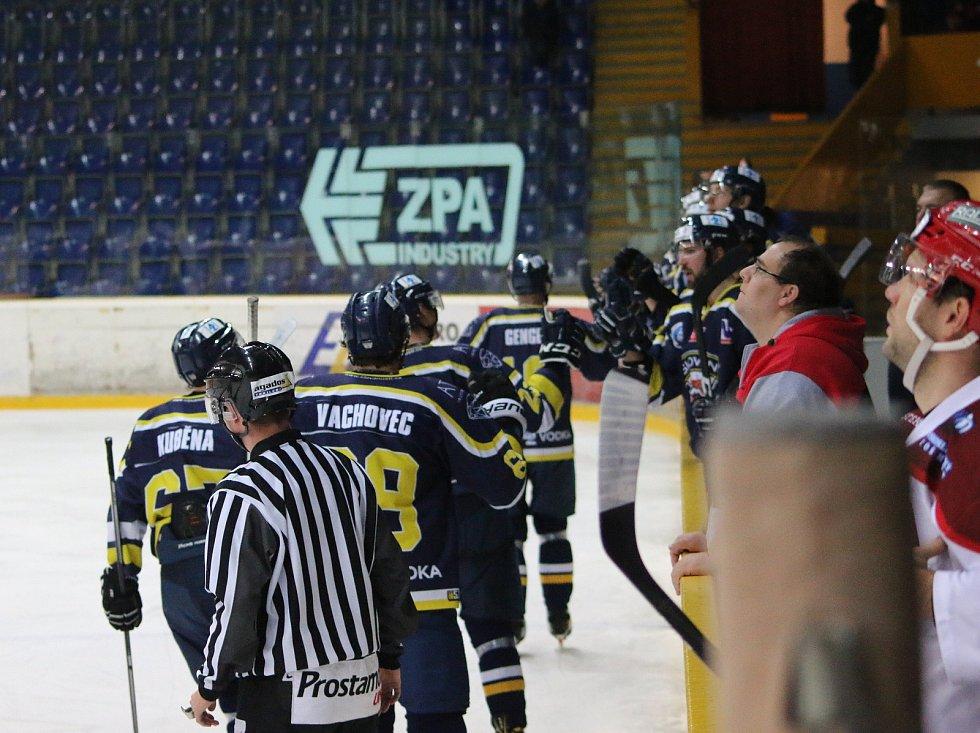 Fotoreport ze zápasu HC Slovan ÚnL vs. HC Frýdek-Místek 25.11. ´17, hokejisté Ústí slaví gól