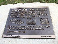 Městské sady - aktivní park.
