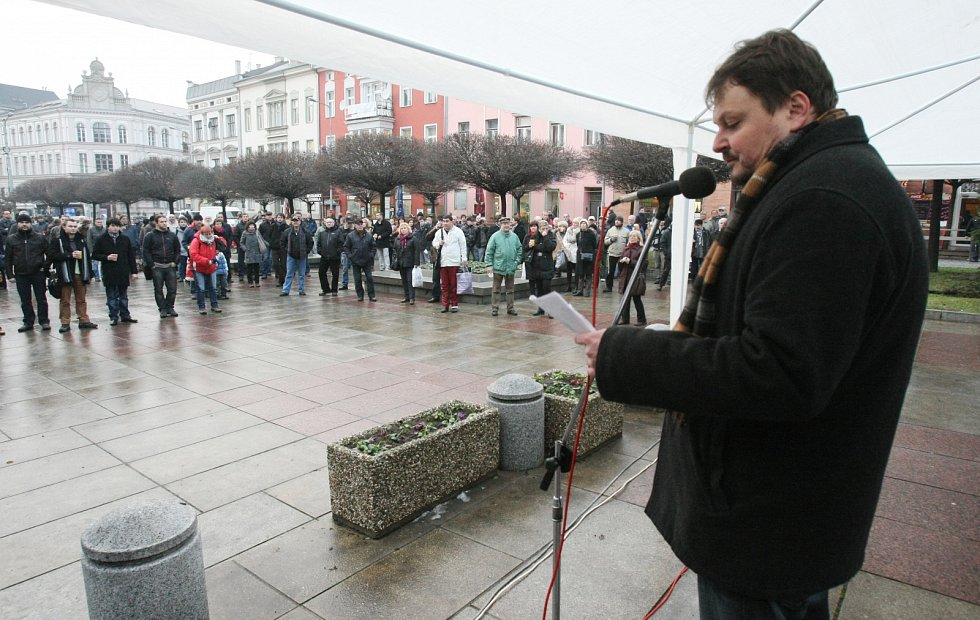Demonstrace proti komunistům