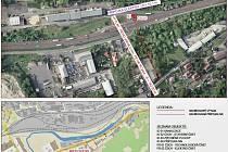 VŽižkově ulici v Ústí nad Labem bude odstraněna kanalizační výusť UL 16 a odpadní vody zblízkých průmyslových areálů budou převedeny do gravitační kanalizace zakončené včistírně odpadních vod vNeštěmicích.
