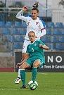 Utkání reprezentantek Česka (v bílém) proti Německu. Na snímku Lucie Voňková