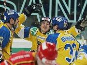 Hokejové utkání mezi Ústím a Chomutovem: 2:1