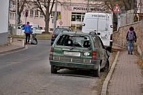 Vrak automobilu v Ústí nad Labem