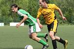Fotbalisté Božtěšic (zelení) prohráli s Telnicí 2:6.