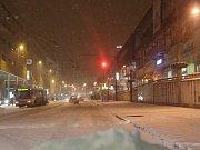 Sněžení komplikuje ve středu 11. ledna dopravu v Ústeckém kraji