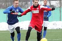 Fotbalisté Army (červení) si doma poradili s juniorkou Liberce 7:1.