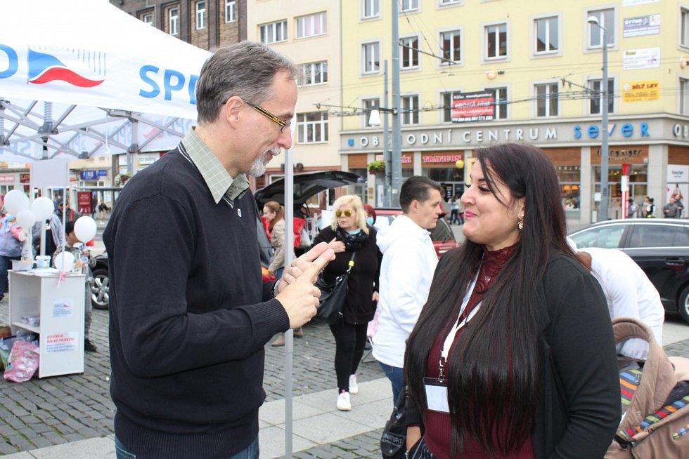 Mítink SPD s krajským lídrem Zdeňkem Kettnerem v Ústí nad Labem
