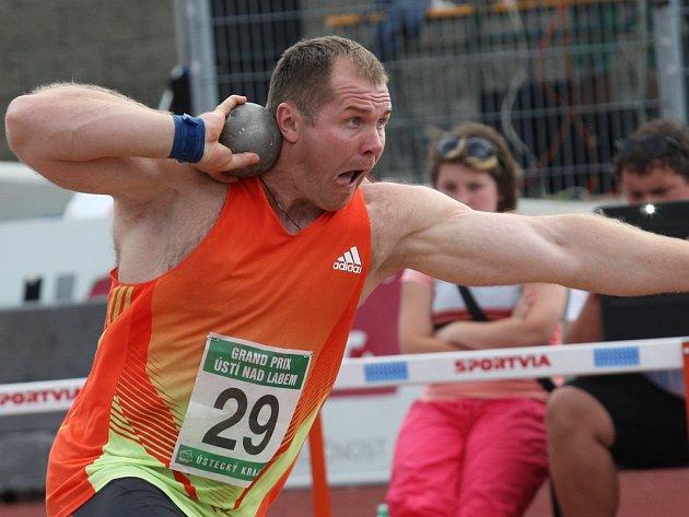 Koulař Pavel Lyzhyn z Běloruska skončil na loňském ročníku Grand Prix Ústí nad Labem třetí.