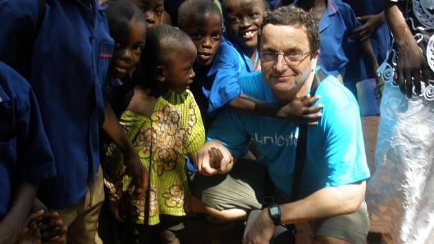 Spisovatel Michal Viewegh v Sierra Leone.