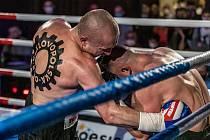 Lukáš Konečný vs Pavel Albrecht, druhý návrat Konečného do ringu během Save Boxing 2021 na ústecké Větruši.