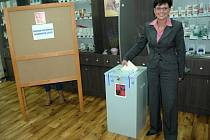 Předsedkyně ČSÚ Iva Ritschelová u voleb.