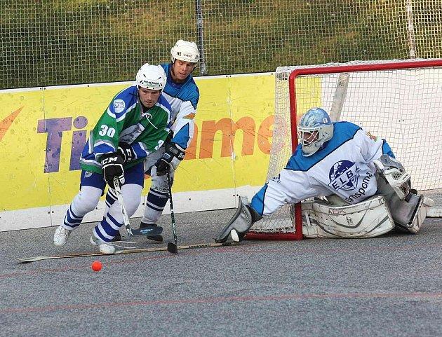 Hokejbalisté Elba Ústí nad Labem hostili tým z Plzně