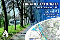 Titulní strana atlasu Labská cyklotrasa v České republice 2011, o který mohou čtenáři severočeských Deníků soutěžit.