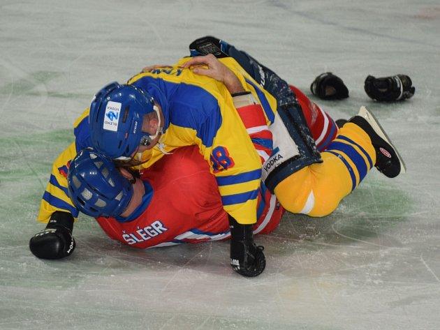 Při Utkání hvězd došlo i na šarvátku mezi Lukášem Konečným a Jiřím Šlégrem. Přidaly si i Fabiana Bytyqi a Lucie Sedláčková.