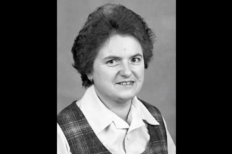 Portrét Marty Cvrkové  z roku 1990