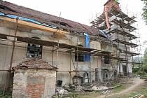 Oprava kostela v Čermné
