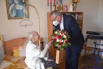 Ústečanka Marie Lubiniecká oslavila 100 let.