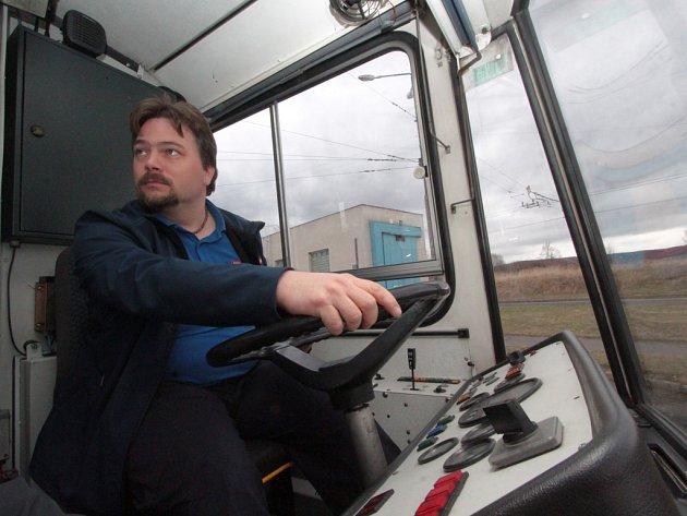 Řidič trolejbusu Jan Vavřinec.
