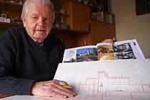 Architekt Václav Krejčí pracoval 4 roky na knize o urbanistickém rozvoji Ústí i o plánech.