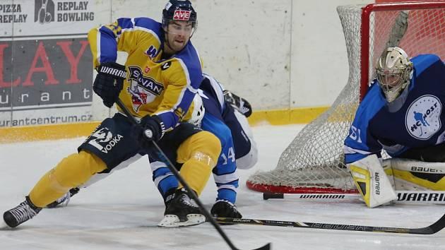 David Tůma v dresu HC Slovan Ústí nad Labem.