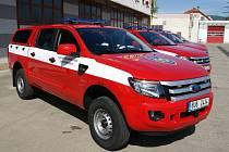 Nový užitkový vůz značky Ford Ranger pro hasiče.