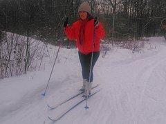 Běžkaři si díky sněhové nadílce užívali třeba i na bývalé Kozí dráze.