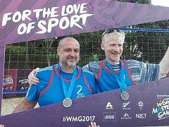 Skvělé druhé místo obsadili plážoví volejbalisté Václav Kapička a Miroslav Papež na Světových hrách World Masters Games.