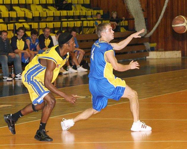 Z basketbalového utkání Ústí nad Labem - Hradec Králové