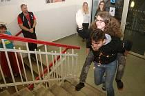 Charitativní Běh do schodů na Jatečce.