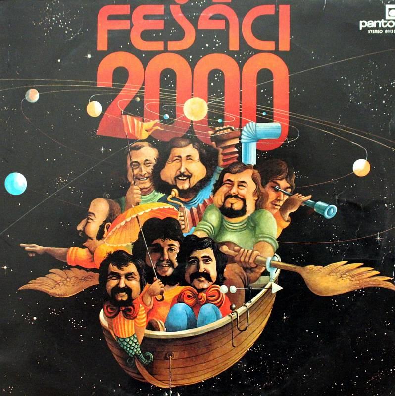 Robert Moucha ze skupiny Fešáci oslavil 80. Přebal alba Fešáci 2000 z roku 1981.