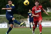 Ústečtí fotbalisté (červení) remizovali na úvod sezony ve Varnsdorfu 1:1.