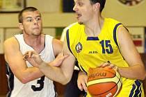Z utkání mezi BK Ústí a americkým univerzitním výběrem.