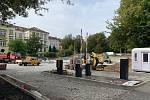 Na Růžovém paloučku na Klíši vzniká hlídané parkoviště